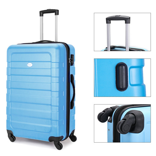 FOCHIER 3 PCS Luggage Sets Lightweight Hard Shell Suitcase with TSA Lock 360/° Spinner Wheels 202428,Green